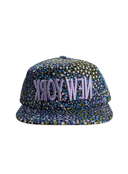 Embroidered Floral Snapback Cap