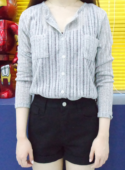 Button Up Ribbed Jumper