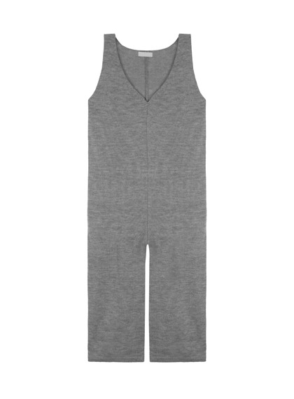 Knit V-Neck Jumpsuit