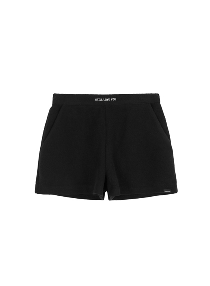 MXMEmbroidered Text Detail Shorts