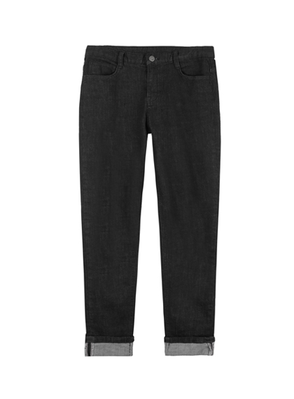 MXMEmbroidered Detail Cuffed Denim Pants