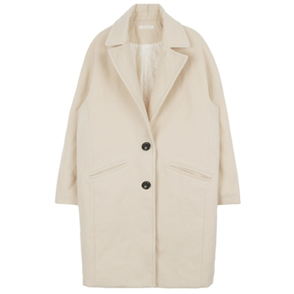Single-Breasted Notched Lapel Coat