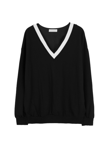 Classic V-Neck Knit Sweater