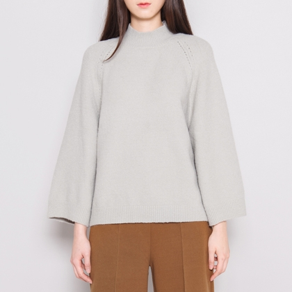 Mock Neck Raglan Knit Sweater