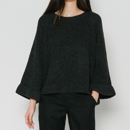 Wide Sleeve Chunky Sweater