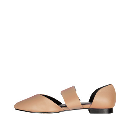 Pointed Toe Open Side Flats
