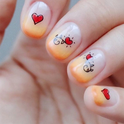 Love Themed Nail Art Water Decal
