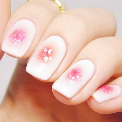 Soft Glow Nail Art Water Decal