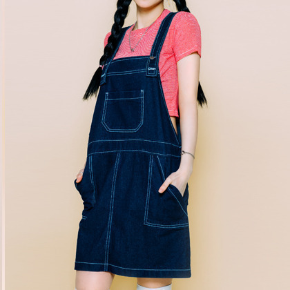 BAUHAUSDenim Pinafore Dress