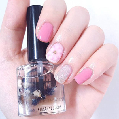 Soft Colored Floral Themed Nail Art Water Decal