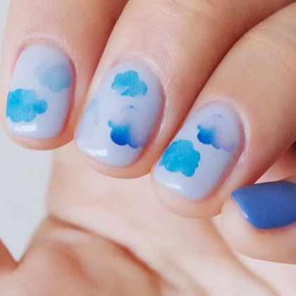 Assorted Watercolor Themed Nail Art Water Decal