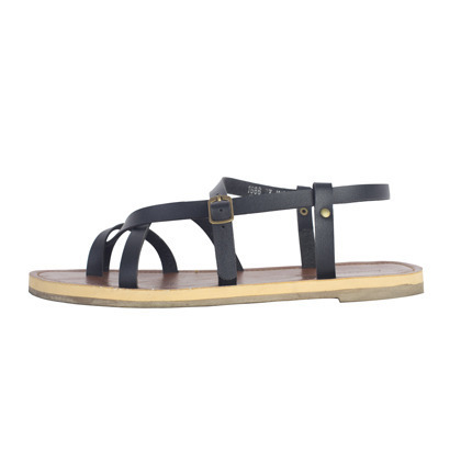 Criss-Cross Toe Loop Flat Sandals