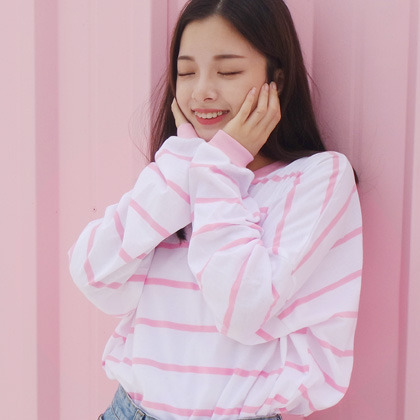 Striped Oversized Pullover