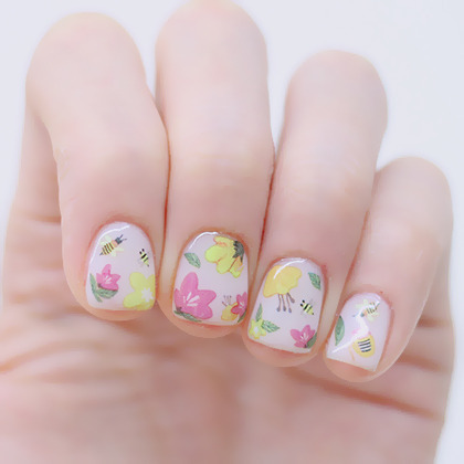 Honey Bee Themed Nail Art Water Decal
