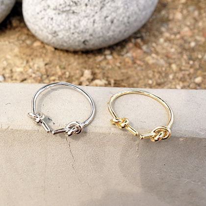 Double Knot Open Ring