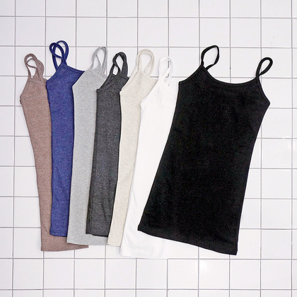 Basic Cotton Spaghetti Strap Top