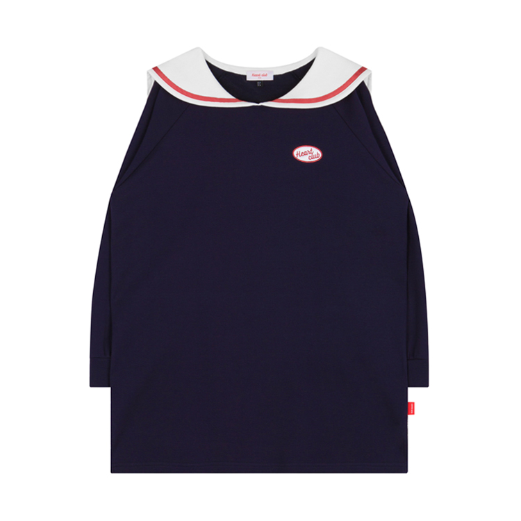 HEART CLUBSailor Collar Long Sleeve Dress