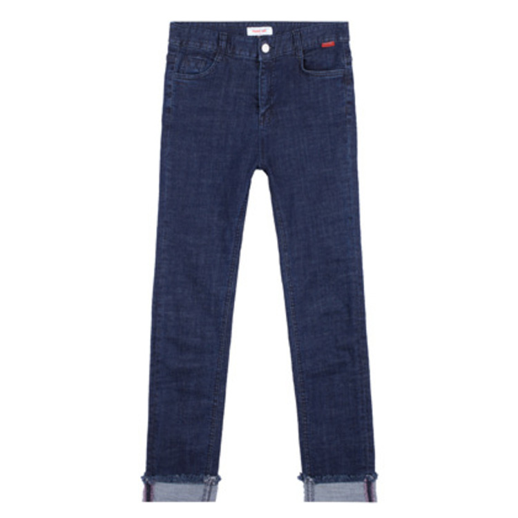 HEART CLUBRoll-Up Hem Straight Leg Jeans