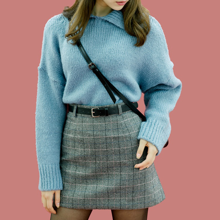 Collared Knit Sweater