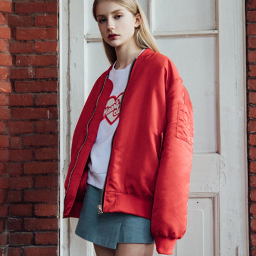 HEART CLUB  Buttoned Flap Pocket Jacket