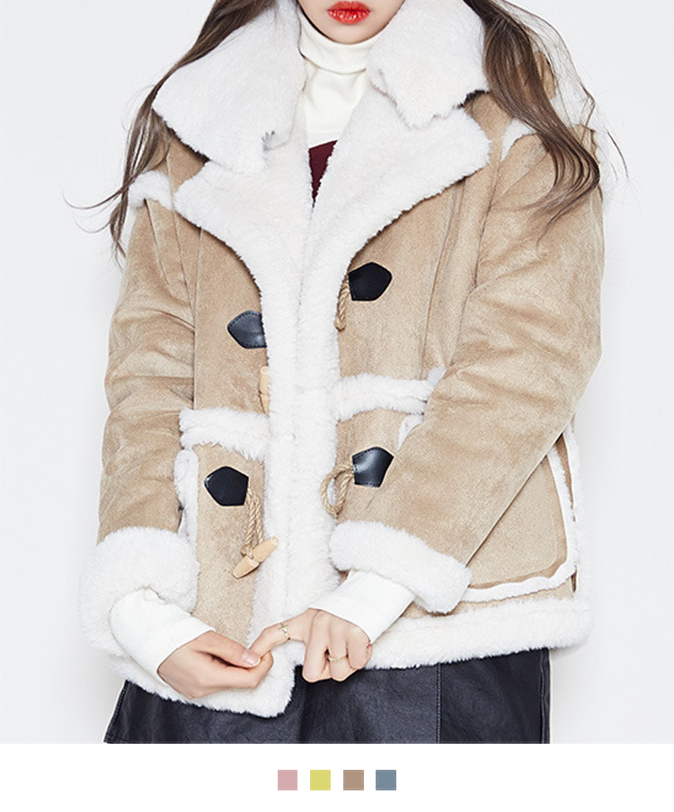 Faux Fur Lined Duffle Jacket