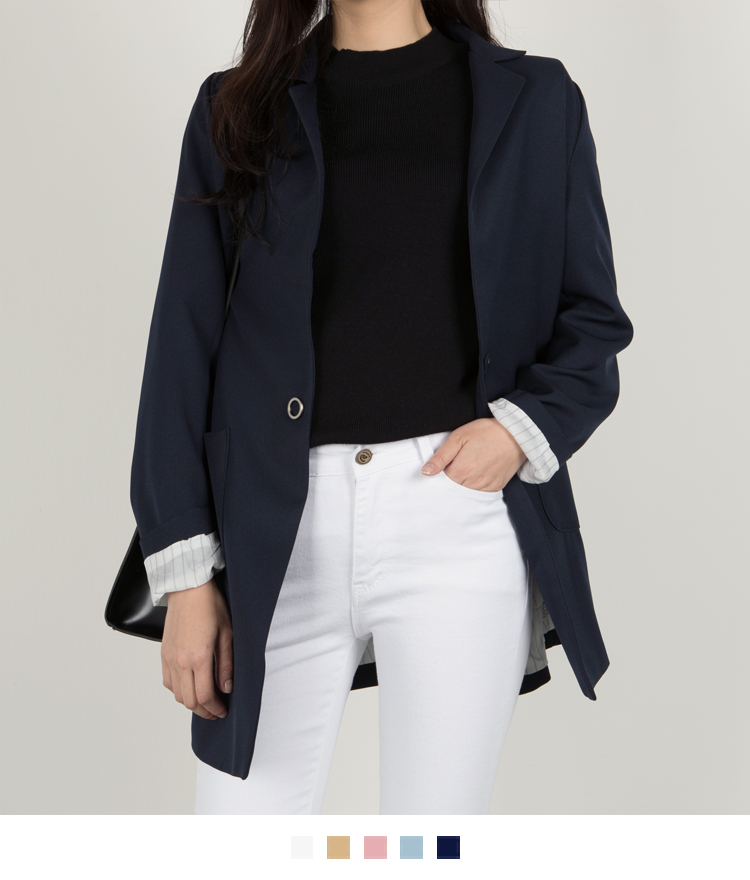 Snap Button Mid-Thigh Jacket