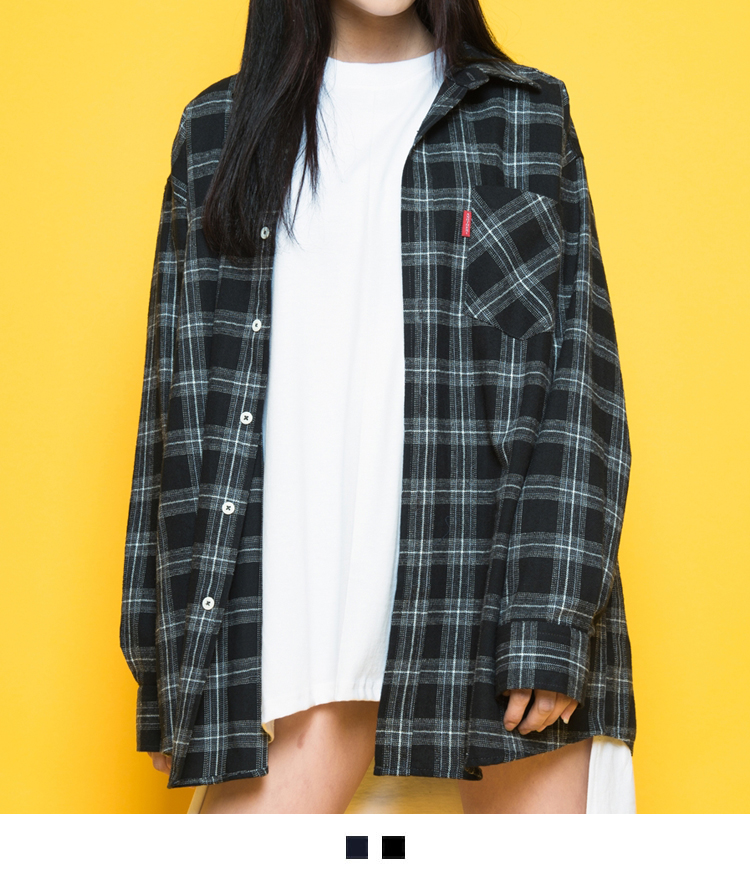Plaid Loose Fit Button-Down Shirt