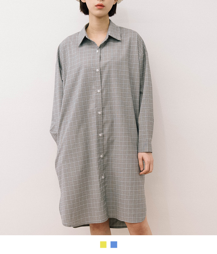 Plaid Loose Fit Shirt Dress