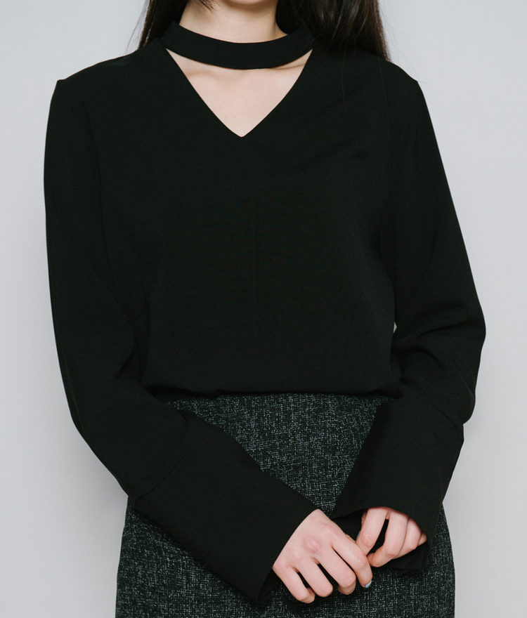BAUHAUSCut Out Choker Top