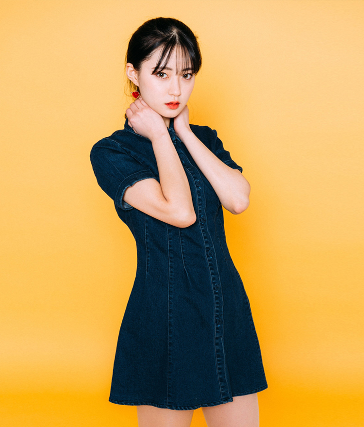 Fit-And-Flare Denim Dress