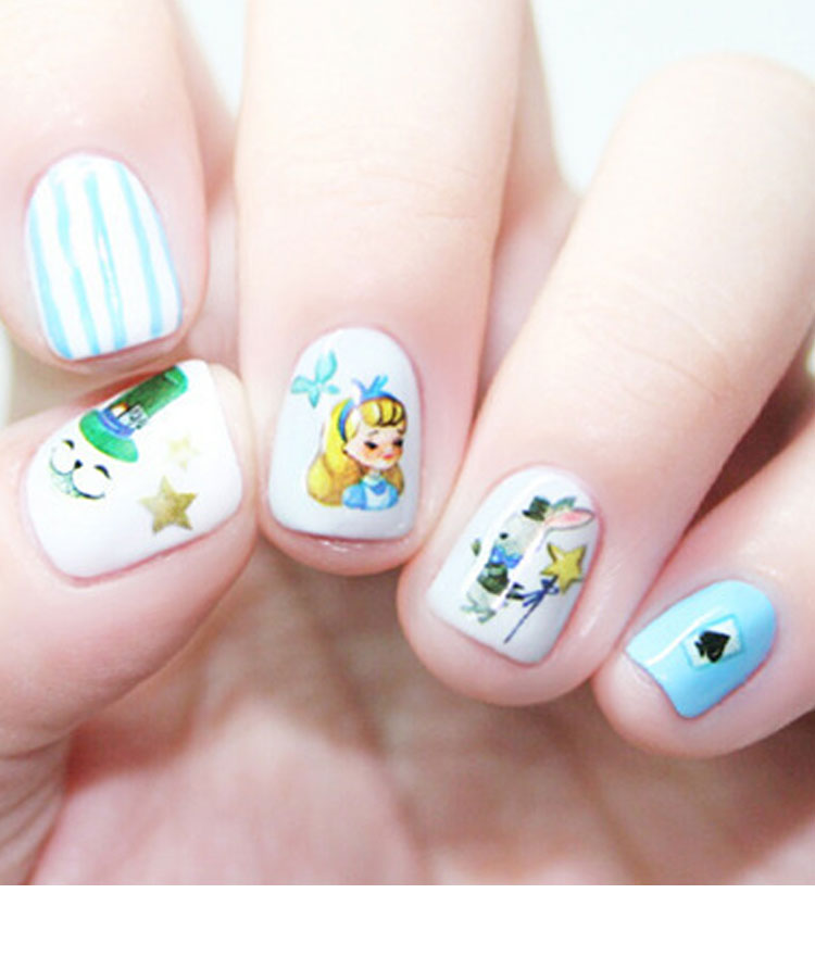 Fairy Tale Themed Nail Art Water Decal