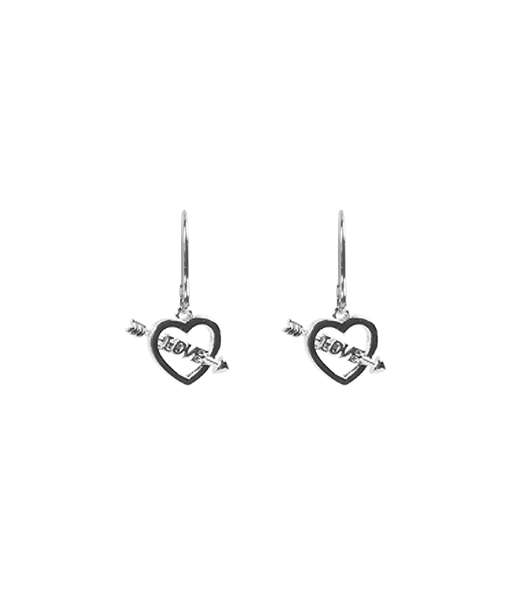 Lettering Heart Earrings