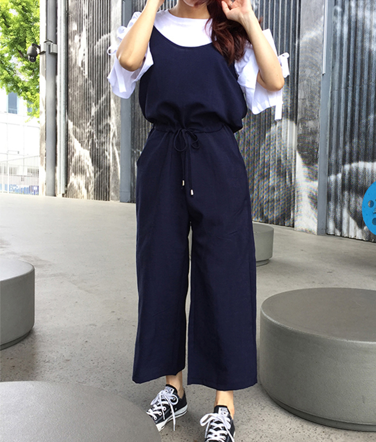 Waist Strap Loose Fit Jumpsuit