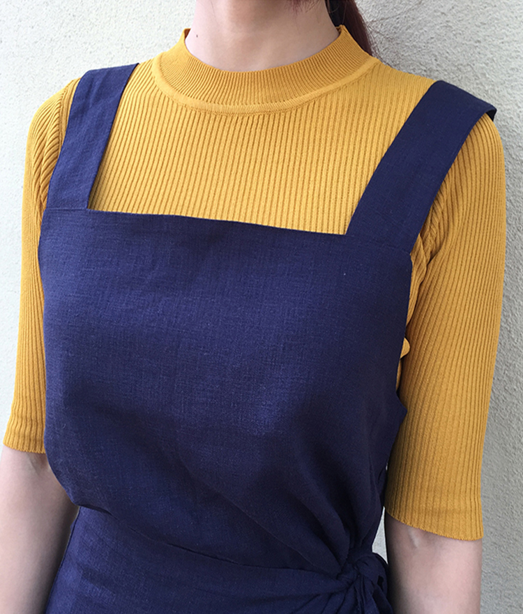Mock Neck Half Sleeve Ribbed Knit Top