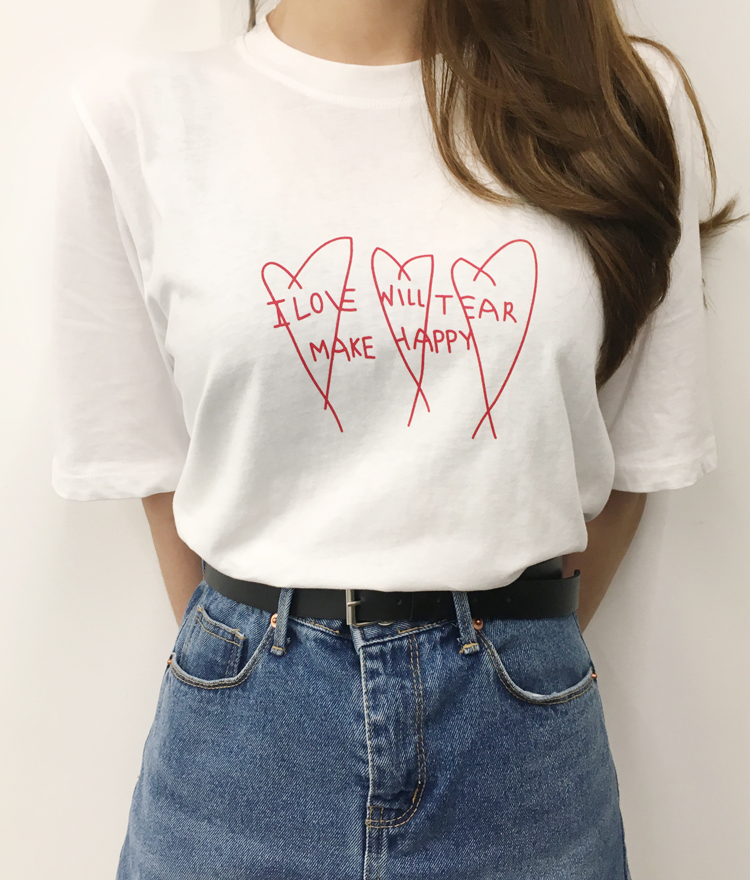Heart Statement Print T-Shirt