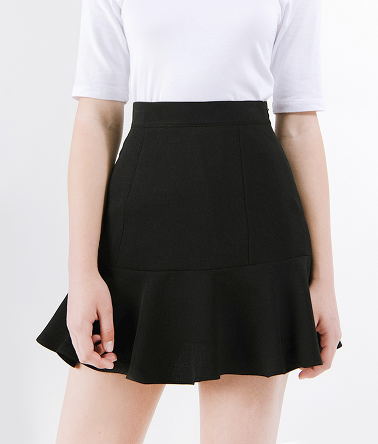Flared Hem Mini Skirt