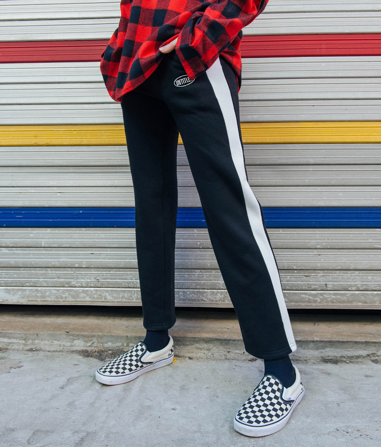 UNTITLE8Contrast Side Panel Elastic Waist Pants