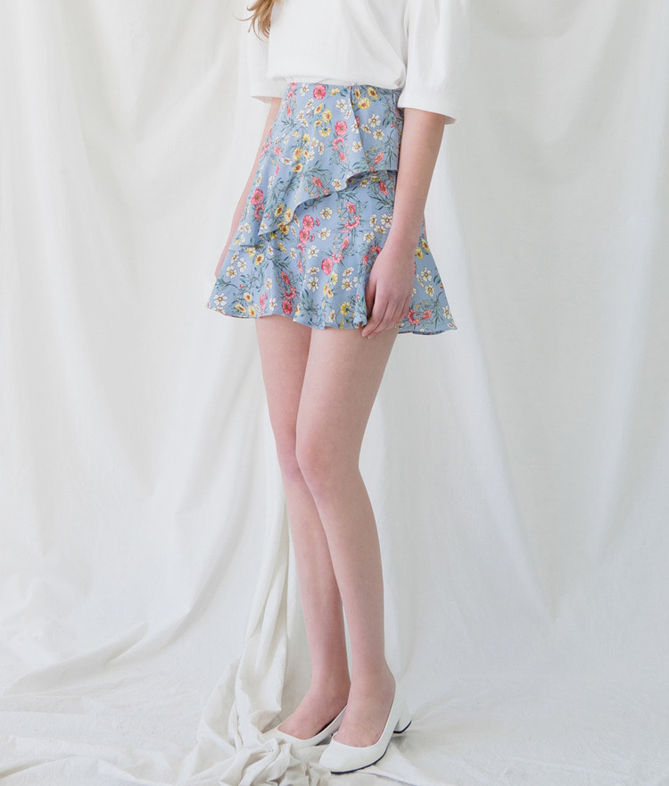 ROMANTIC MUSEFrill Floral Skirt