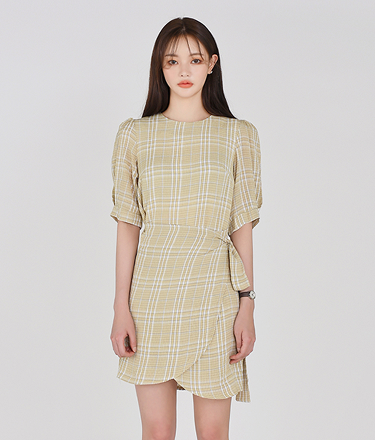 ESSAYWrap Check Dress