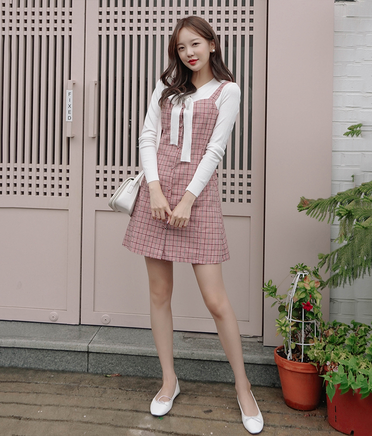 ROMANTIC MUSEButton-Up Check Dress