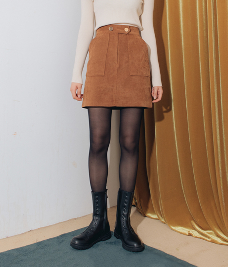 QUIETLABFaux Suede Mini Skirt