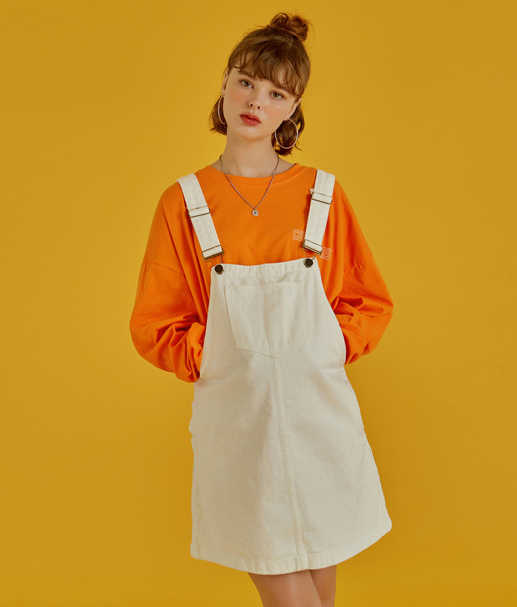 NEVERM!NDPatch Pocket Denim Overall Dress