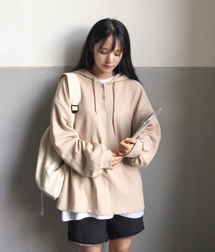 NEVERM!NDBalloon Sleeve Hooded Sweatshirt