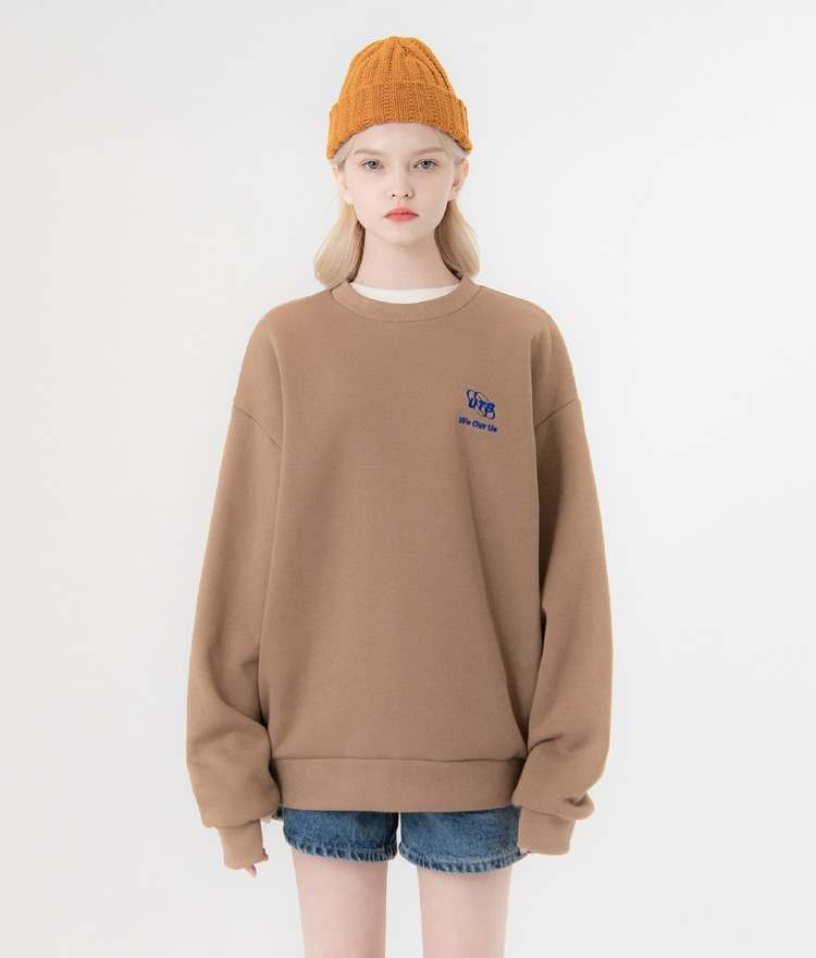UNTITLE8Dark Beige Embroidered Detail Sweatshirt