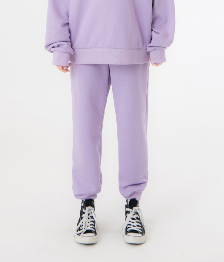 UNTITLE8Light Purple Drawstring Waist Jogger Pants