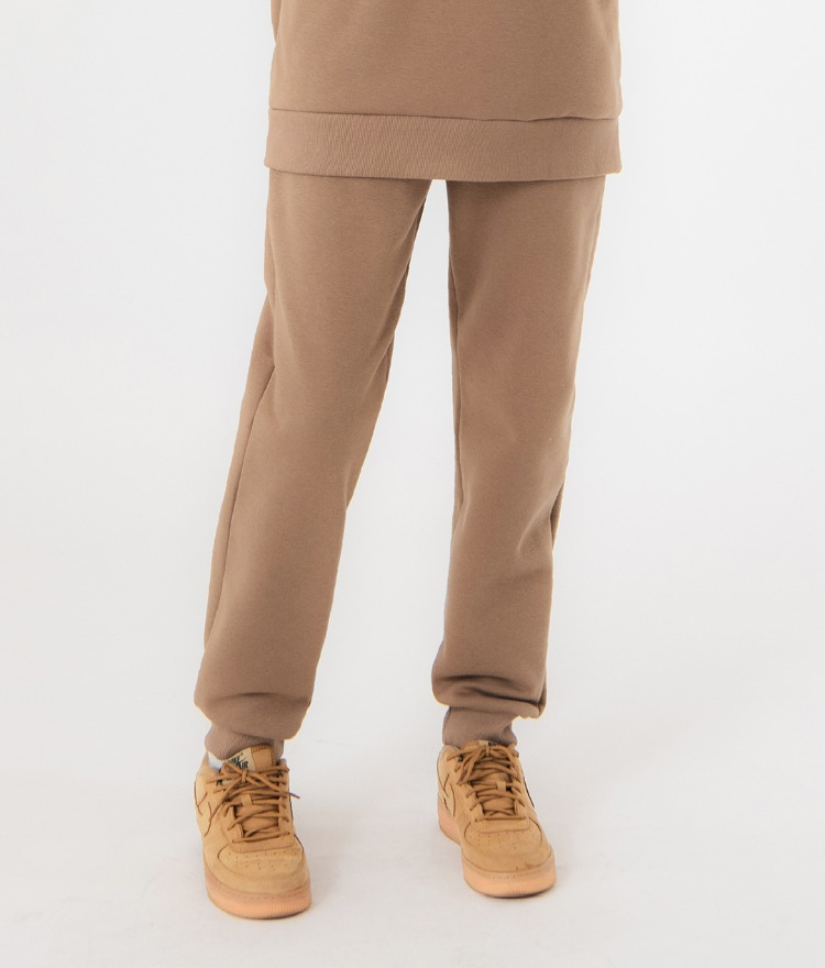 UNTITLE8Dark Beige Drawstring Waist Jogger Pants