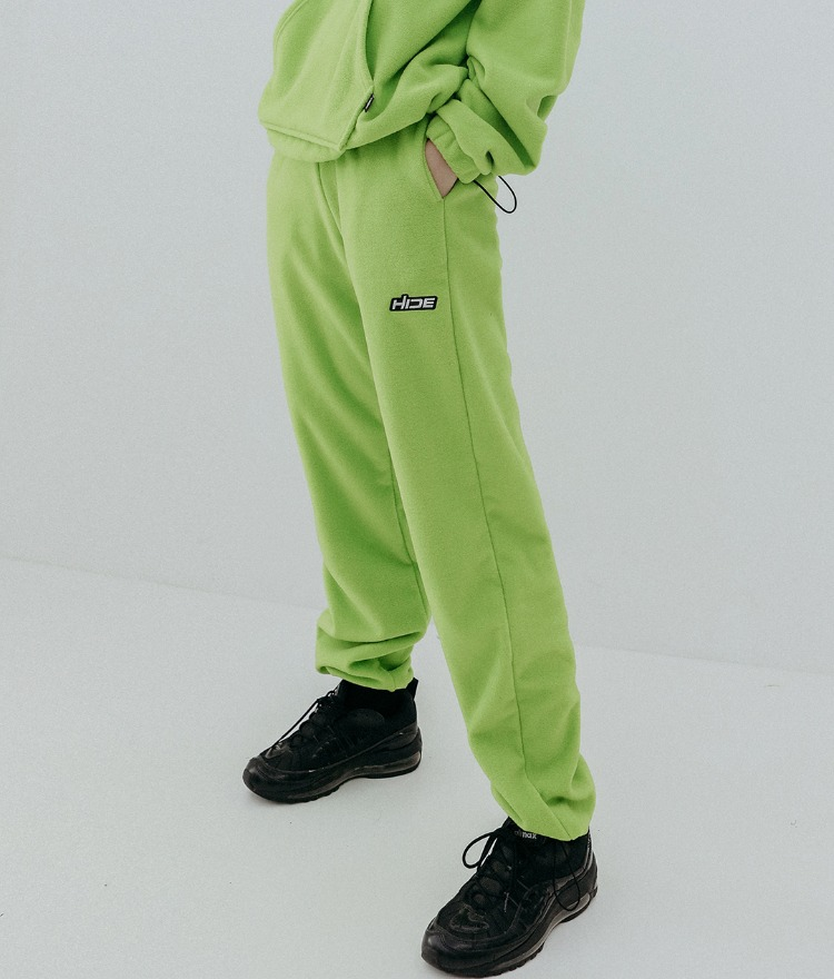 HIDELight Green Cord-Locked Hem Pants