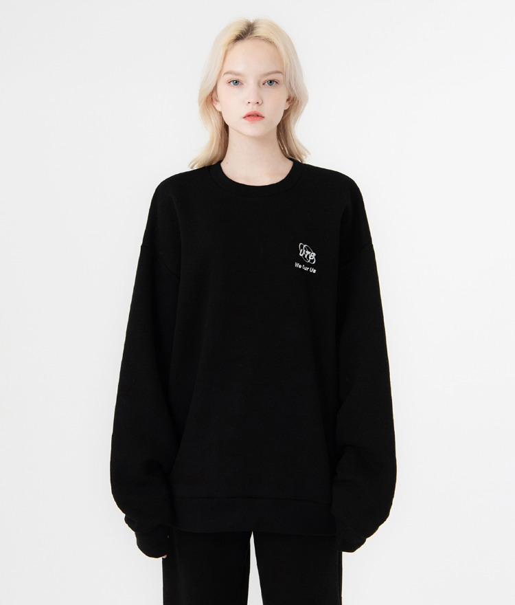 UNTITLE8Black Embroidered Detail Sweatshirt