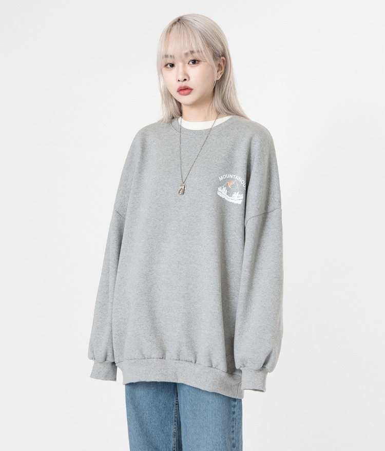 NEVERM!NDMOUNTAINOUS Print Sweatshirt