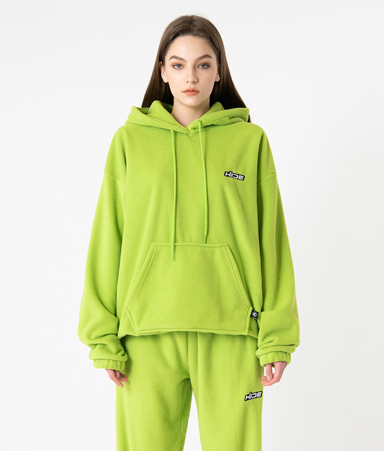 HIDECord-Locked Hem Light Green Hoodie